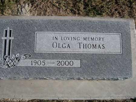 THOMAS, OLGA - Douglas County, Nebraska   OLGA THOMAS - Nebraska Gravestone Photos