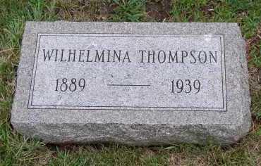 THOMPSON, WILHELMINA - Douglas County, Nebraska | WILHELMINA THOMPSON - Nebraska Gravestone Photos