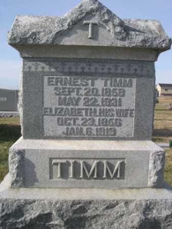 TIMM, ERNEST - Douglas County, Nebraska | ERNEST TIMM - Nebraska Gravestone Photos