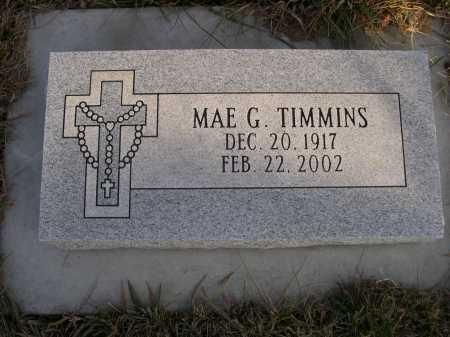 TIMMINS, MAE G. - Douglas County, Nebraska   MAE G. TIMMINS - Nebraska Gravestone Photos