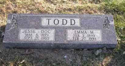 TODD, EMMA M. - Douglas County, Nebraska   EMMA M. TODD - Nebraska Gravestone Photos