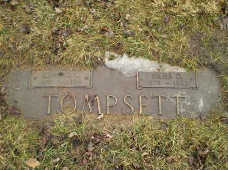 TOMPSETT, EMMA D - Douglas County, Nebraska | EMMA D TOMPSETT - Nebraska Gravestone Photos