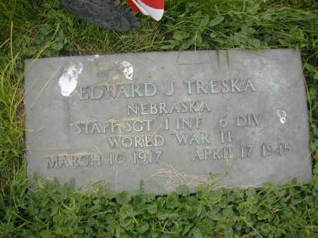TRESKA, EDWARD J - Douglas County, Nebraska | EDWARD J TRESKA - Nebraska Gravestone Photos