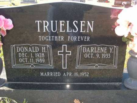 TRUELSEN, DONALD H. - Douglas County, Nebraska   DONALD H. TRUELSEN - Nebraska Gravestone Photos
