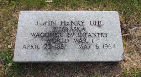 UHL, JOHN HENRY (MILITARY MARKER) - Douglas County, Nebraska | JOHN HENRY (MILITARY MARKER) UHL - Nebraska Gravestone Photos