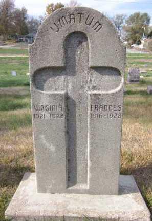 UMATUM, FRANCES - Douglas County, Nebraska   FRANCES UMATUM - Nebraska Gravestone Photos