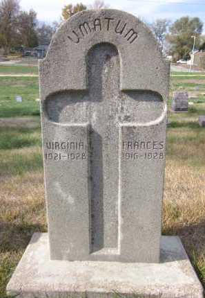 UMATUM, FRANCES - Douglas County, Nebraska | FRANCES UMATUM - Nebraska Gravestone Photos