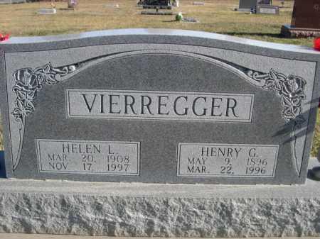 VIERREGGER, HELEN L. - Douglas County, Nebraska | HELEN L. VIERREGGER - Nebraska Gravestone Photos