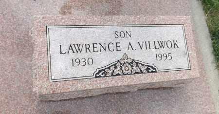 VILLWOK, LAWRENCE A. (CLOSE UP) - Douglas County, Nebraska | LAWRENCE A. (CLOSE UP) VILLWOK - Nebraska Gravestone Photos