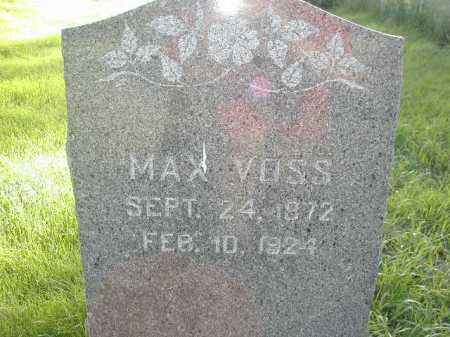 VOSS, MAX - Douglas County, Nebraska | MAX VOSS - Nebraska Gravestone Photos
