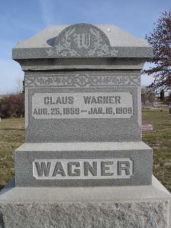 WAGNER, CLAUS - Douglas County, Nebraska | CLAUS WAGNER - Nebraska Gravestone Photos
