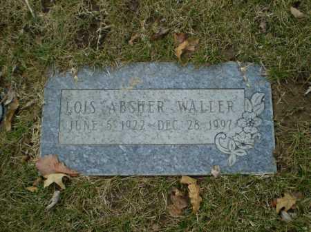 ABSHER WALLER, LOIS - Douglas County, Nebraska | LOIS ABSHER WALLER - Nebraska Gravestone Photos