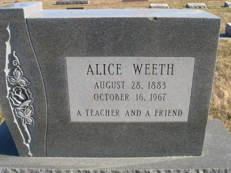 WEETH, ALICE - Douglas County, Nebraska | ALICE WEETH - Nebraska Gravestone Photos