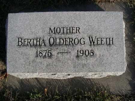 WEETH, BERTHA OLDEROG - Douglas County, Nebraska | BERTHA OLDEROG WEETH - Nebraska Gravestone Photos