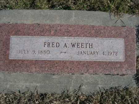 WEETH, FRED A. - Douglas County, Nebraska | FRED A. WEETH - Nebraska Gravestone Photos