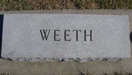 WEETH, FAMILY - Douglas County, Nebraska | FAMILY WEETH - Nebraska Gravestone Photos