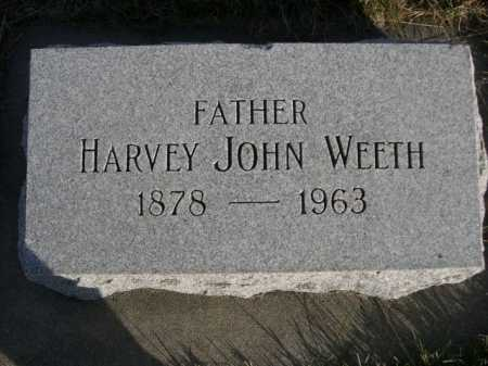 WEETH, HARVEY JOHN - Douglas County, Nebraska | HARVEY JOHN WEETH - Nebraska Gravestone Photos