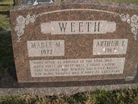 WEETH, ARTHUR L. - Douglas County, Nebraska | ARTHUR L. WEETH - Nebraska Gravestone Photos
