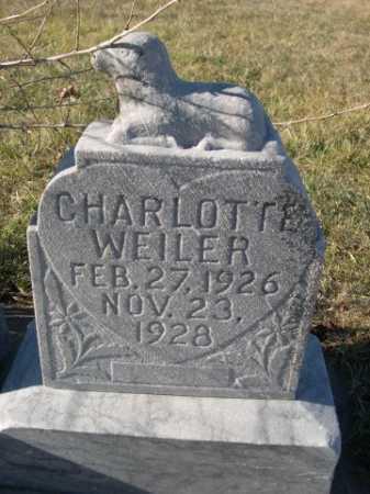 WEILER, CHARLOTTE - Douglas County, Nebraska | CHARLOTTE WEILER - Nebraska Gravestone Photos