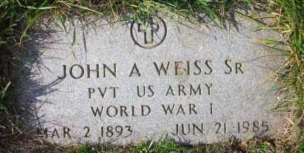 WEISS, JOHN A. - Douglas County, Nebraska | JOHN A. WEISS - Nebraska Gravestone Photos
