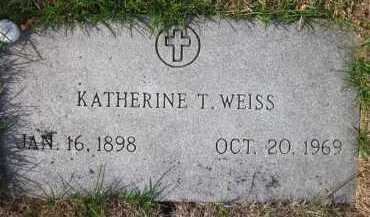 WEISS, KATHERINE T. - Douglas County, Nebraska | KATHERINE T. WEISS - Nebraska Gravestone Photos