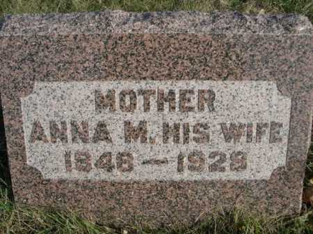 WESSEL, ANNA M. - Douglas County, Nebraska | ANNA M. WESSEL - Nebraska Gravestone Photos
