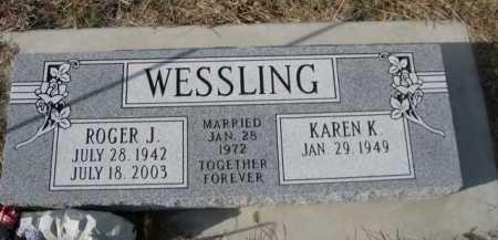 WESSLING, ROGER J. - Douglas County, Nebraska | ROGER J. WESSLING - Nebraska Gravestone Photos