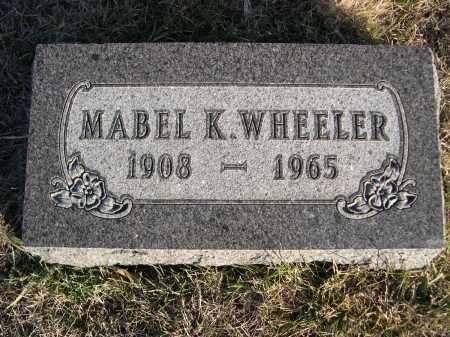 WHEELER, MABEL K. - Douglas County, Nebraska | MABEL K. WHEELER - Nebraska Gravestone Photos