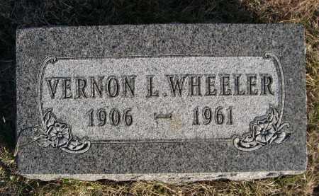 WHEELER, VERNON L. - Douglas County, Nebraska | VERNON L. WHEELER - Nebraska Gravestone Photos