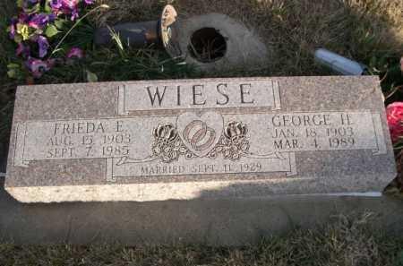 WIESE, FRIEDA E. - Douglas County, Nebraska | FRIEDA E. WIESE - Nebraska Gravestone Photos