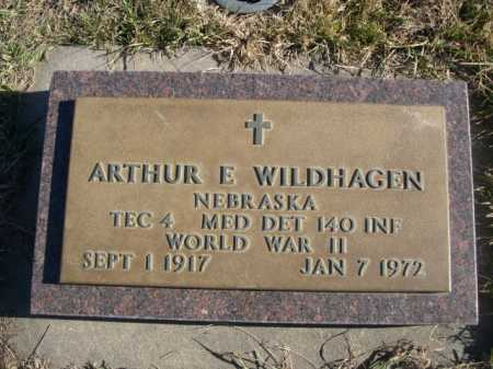 WILDHAGEN, ARTHUR E. - Douglas County, Nebraska | ARTHUR E. WILDHAGEN - Nebraska Gravestone Photos