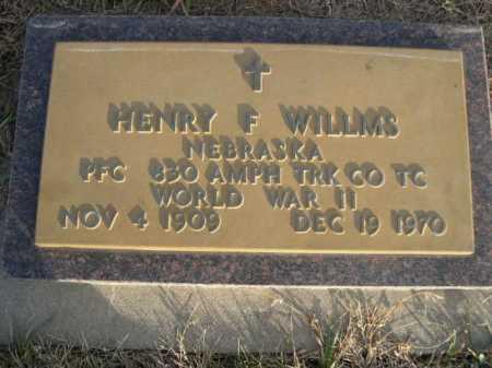 WILLMS, HENRY F. - Douglas County, Nebraska | HENRY F. WILLMS - Nebraska Gravestone Photos
