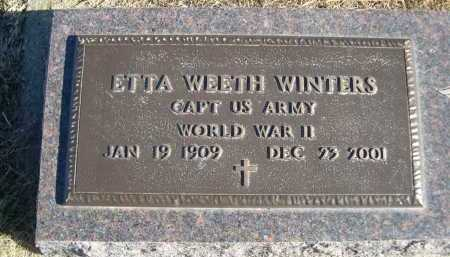 WEETH WINTERS, ETTA WEETH - Douglas County, Nebraska | ETTA WEETH WEETH WINTERS - Nebraska Gravestone Photos