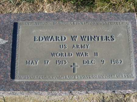 WINTERS, EDWARD W. - Douglas County, Nebraska | EDWARD W. WINTERS - Nebraska Gravestone Photos