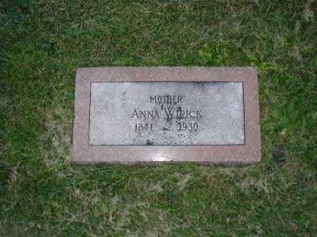 WIRICK, ANNA - Douglas County, Nebraska   ANNA WIRICK - Nebraska Gravestone Photos