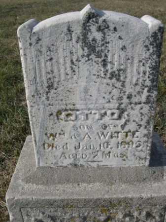 WITTE, OTTO - Douglas County, Nebraska | OTTO WITTE - Nebraska Gravestone Photos