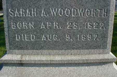 WOODWORTH, SARAH A - Douglas County, Nebraska | SARAH A WOODWORTH - Nebraska Gravestone Photos