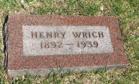 WRICH, HENRY - Douglas County, Nebraska | HENRY WRICH - Nebraska Gravestone Photos