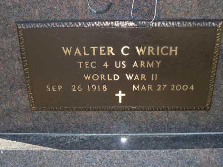 WRICH, WALTER C. - Douglas County, Nebraska | WALTER C. WRICH - Nebraska Gravestone Photos