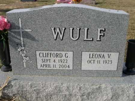WULF, CLIFFORD G. - Douglas County, Nebraska | CLIFFORD G. WULF - Nebraska Gravestone Photos
