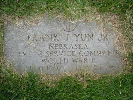 YUN, JR., FRANK J - Douglas County, Nebraska | FRANK J YUN, JR. - Nebraska Gravestone Photos