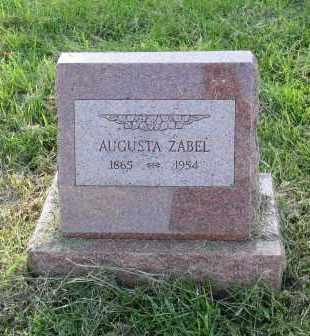 ZABEL, AUGUSTA - Douglas County, Nebraska | AUGUSTA ZABEL - Nebraska Gravestone Photos