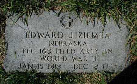 ZIEMBA, EDWARD J - Douglas County, Nebraska | EDWARD J ZIEMBA - Nebraska Gravestone Photos
