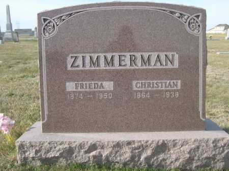 ZIMMERMAN, CHRISTIAN - Douglas County, Nebraska | CHRISTIAN ZIMMERMAN - Nebraska Gravestone Photos