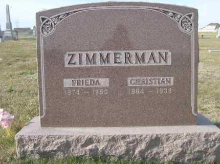 ZIMMERMAN, FRIEDA - Douglas County, Nebraska | FRIEDA ZIMMERMAN - Nebraska Gravestone Photos