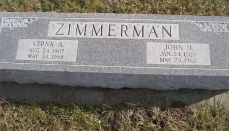 ZIMMERMAN, JOHN H. - Douglas County, Nebraska | JOHN H. ZIMMERMAN - Nebraska Gravestone Photos