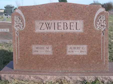 ZWIEBEL, ALBERT G. - Douglas County, Nebraska | ALBERT G. ZWIEBEL - Nebraska Gravestone Photos