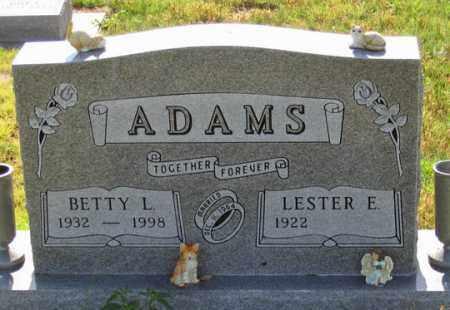ADAMS, LESTER E. - Dundy County, Nebraska | LESTER E. ADAMS - Nebraska Gravestone Photos