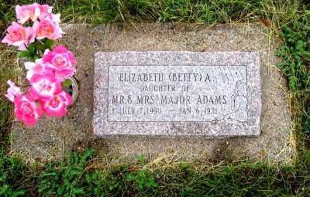 ADAMS, ELIZABETH A. (BETTY) - Dundy County, Nebraska | ELIZABETH A. (BETTY) ADAMS - Nebraska Gravestone Photos