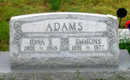 ADAMS, EMMONS - Dundy County, Nebraska   EMMONS ADAMS - Nebraska Gravestone Photos
